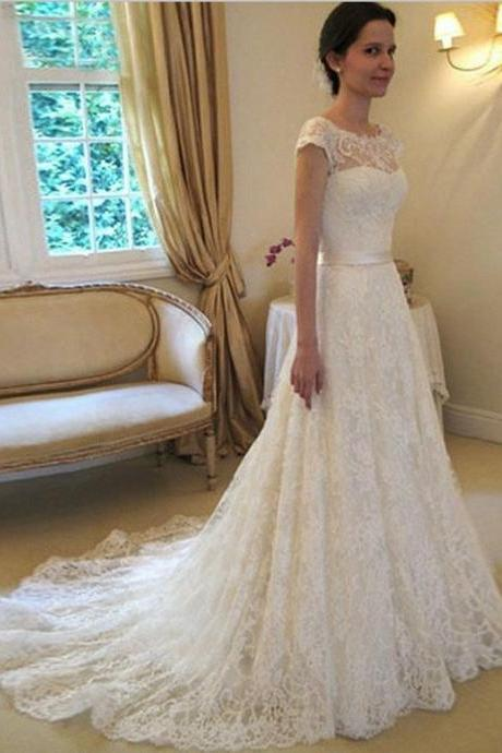 Wedding Dress,Custom Wedding Dress,Romantic wedding dress,Mermaid Wedding Dress,Lace wedding dressTrain Lace Bridal Dresses,Glamorous Wedding Dress,White Wedding Dress,Lace Wedding Dress