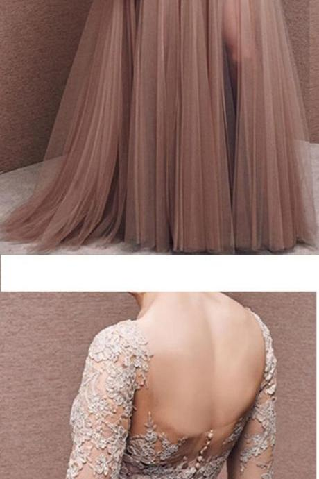 Prom Dress, Charming Prom Dress,Tulle Prom Dress,Half-Sleeves Prom Dress,Appliques Evening Dress,Wedding Guest Prom Gowns, Formal Occasion Dresses,Formal Dress