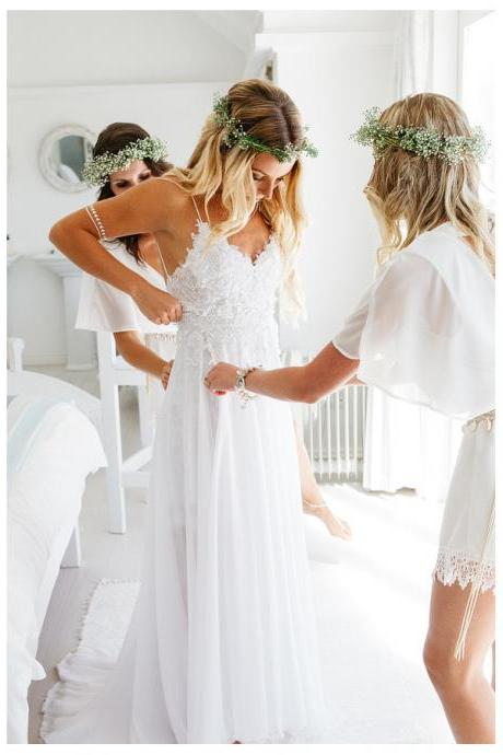 Wedding Dress,Wedding Dresses,Summer Wedding Dresses,Beach Wedding Dresses,Sexy Spaghetti Straps Backless Country Wedding Dresses