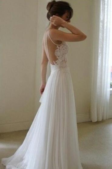 Wedding Dress,Wedding Dresses,Beach Wedding Dresses,Summer Wedding Dresses,Backless Wedding Dresses,Lace Wedding Dresses